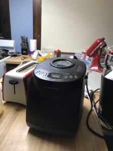 Bread Machine with Rising Dough